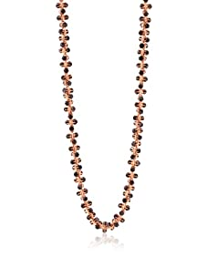 Tuleste Market Marbled Claw Necklace, Rose Gold/Charcoal