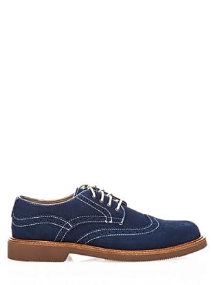 Dockers Zapatos Oxford de Ante con Cordones (azul marino)