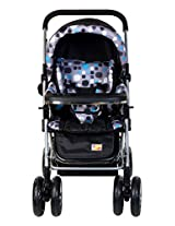 Mee Mee Baby Pram with Shock Absorber Technology (Black)