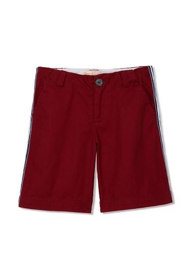 Upper School Boy's Racing Stripe Shorts (Red)