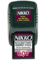 NIKKO 6.0 VOLT NICD RECHARGEABLE BATTERY CASSETTE AND CHARGER