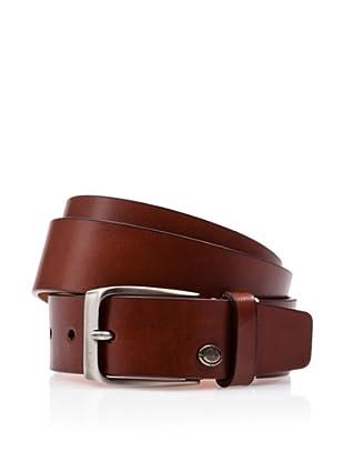 Caramelo Cinturón Vestir (Marrón Oscuro)