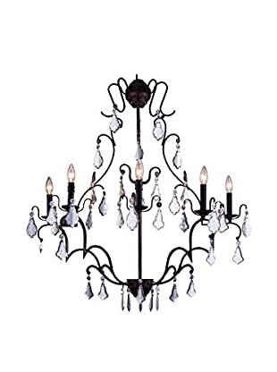 Urban Lights Charlotte 8-Light Chandelier, Antique Bronze/Royal Cut Crystal