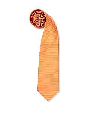 Olimpo Corbata Micro Rayas (Naranja)