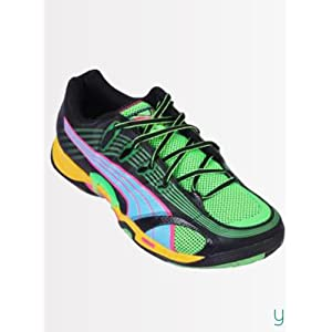 Puma Men 10206201 Accelerate V Tricks II Black Aquarius Fluo Pink Sports Shoes