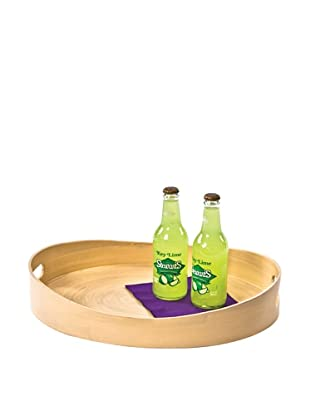 Skalny Oval Spun Bamboo Tray, Natural