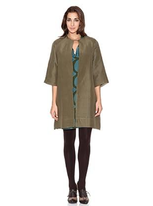SIYU Vestido Woven Abrigo Largo (kaki)