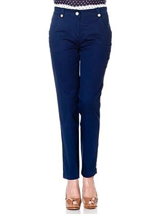 Cortefiel Hose 4 Taschen (Blau/Nachtblau)