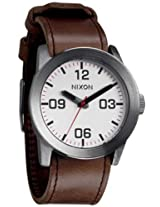 Nixon Private Watch - Men's Silver/Brown, One Size