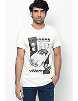 White Originals Round Neck T-Shirt Adidas