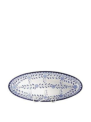 Le Souk Ceramique Azoura Extra Large Oval Platter, Blue/White