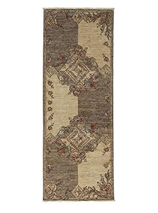 Darya Rugs Fine Modern Oriental Rug, Silver, 3' 1