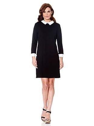 Cortefiel Kleid mit Kragen (Schwarz)