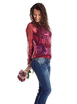 Desigual Bluse Pink Flower