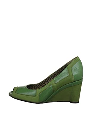 Fly London Zapatos Patchwork (Verde)