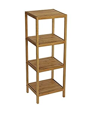 Gallerie Décor Bamboo Natural Spa 4-Shelf Tower, Natural