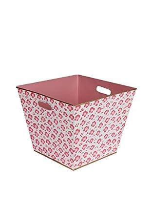 Jayes Leopard Storage Bin, Pink