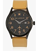 5128903 Brown/Black Analog Watch Ted Lapidus