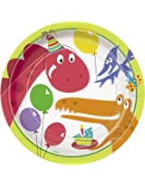 """Charmed celebrations Dino PRINTED 9"""" Paper Plates"""