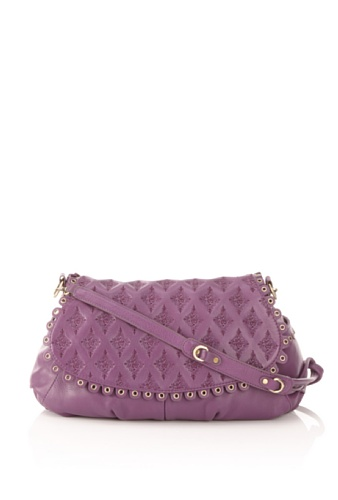 Isabella Fiore Women's Indie Blossom Darma Messenger Bag, Grape