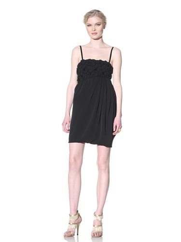 Moschino Cheap and Chic Women's Bubble Hem Dress with Pleat Detail (Black)