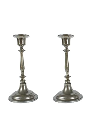 Pair of Jonkoping Nickel-Plate Candlesticks, Silver