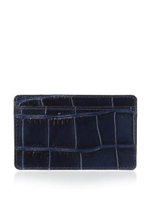 Leone Braconi Men's Stampato Credit Card Holder (Navy)