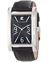 Ted Lapidus Men's 5110207 Black Dial Black Leather Watch