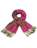 Dahlia Women's Pashmina Scarf - Indian Motifs - Pink
