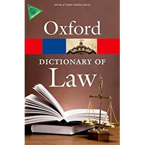 Dictionary of Law (Oxford Quick Reference)