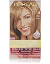 L'Oreal Excellence Creme Haircolor, Medium Blonde 8