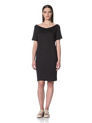 JIL SANDER NAVY Women's Short Sleeve Jersey Dress (Navy)