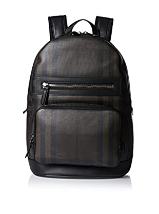 Burberry Men's Checked Backpack, Black