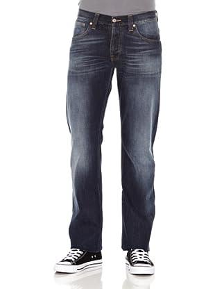 Nudie Jeans Pantalón Average Joe (Azul medio)