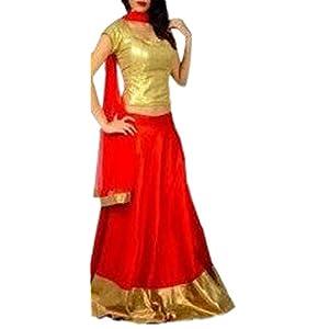 Designes MDESI45760419830 Red and Golden Lehenga