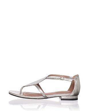 Corso Como Women's Soir Flat Sandal (Aluminum/Silver)
