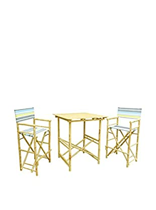 Zero Emission World, Inc. 3-Piece Bamboo Dining Set, Natural