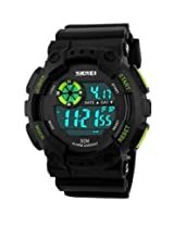 Gosasa Mens Outdoor Sports Waterproof Multifunctional Watch Casual LED Digital Wrist Watches (Green)