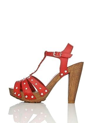 Pollini Sandalias Lecco (Rojo)