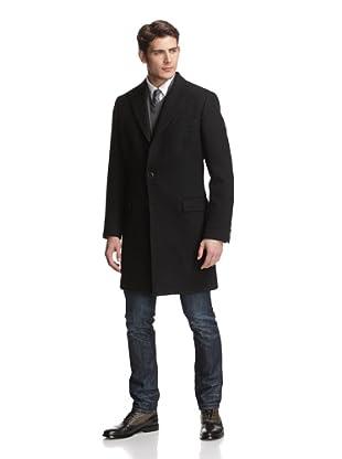 Dolce & Gabbana Men's Peak Lapel Over Coat (Grey)