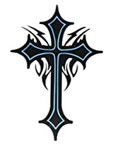 GGSELL Extra large size cross totem temporary tattoos 8.66x8.07 Inches
