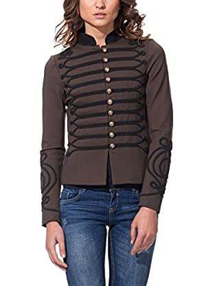 OSLEY PARIS Chaqueta Retro Military With Embroidered Front Sleeves