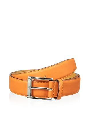 Leone Braconi Men's Sauvage Bullskin Belt (Orange)
