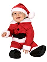 Rubie's Costume Fleece Baby Santa Romper Costume and Hat