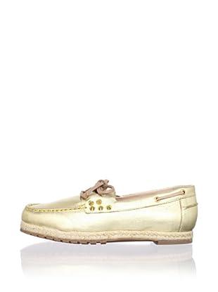 Be&D Women's Rittenhouse Studded Boat Shoe (Gold)