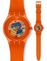Swatch Analog Orange Dial Men's Watch - SUOO100