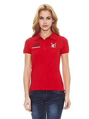 Polo Club Polo Manga Corta Custom Fit (Rojo)