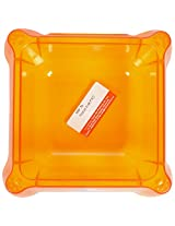 Taiyo Pluss Discovery Transparent Small Square Bowl, 2.5 inch X 5 inch
