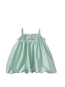Us Angels Baby Bubble Dress with Flowers (Mint)