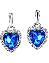 Ananth Jewels Swarovski Crystal Gift for Valentine Blue Earrings for Women Girlfriend Wife